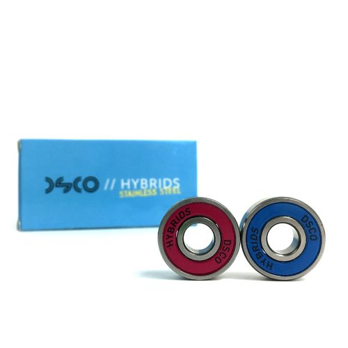 DSCO Bearings Stainless Steel Hybrids with Pink/Cyan Shields