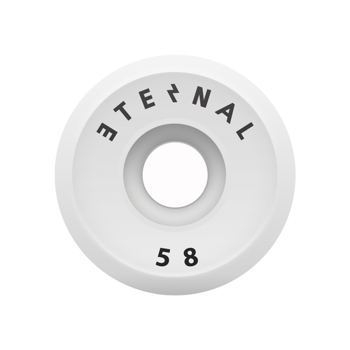 Eternal Wheels 58mm (100A) V-Cut White