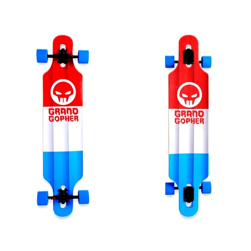 "Grand Gopher Complete 39"" Drop Through Red/White/Blue"