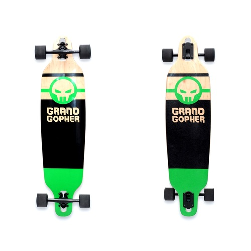 "Grand Gopher Complete 39"" Drop Through Black/Green"