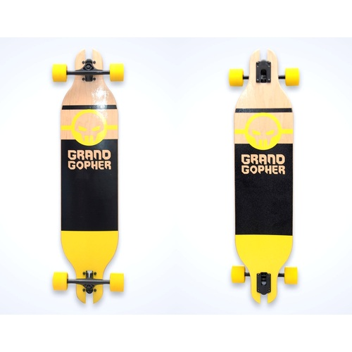 "Grand Gopher Complete 39"" Drop Through Black/Yellow"