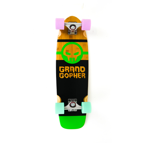 "Grand Gopher Complete 38"" DropThrough Black/Green Bamboo"
