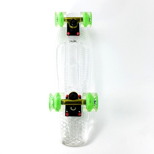 "Grand Gopher Complete 6.0"" Clear Deck with LED wheels"