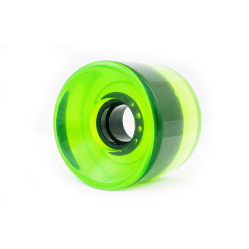 Risen Wheels 65mm (82a) Clear Green Black with Core