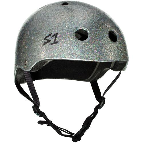 S-One Helmet Lifer (S) Silver Glitter - AUS/NZ Certified