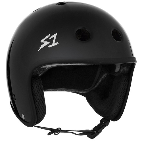 S-One Helmet Retro Lifer (M) Black Gloss - AUS/NZ Certified