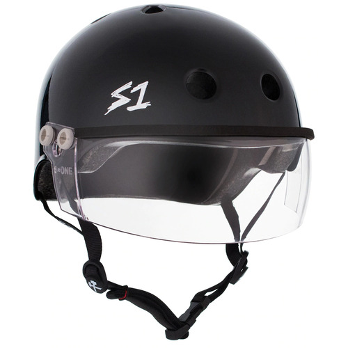 S-One Helmet Lifer Visor (XS) Black Gloss