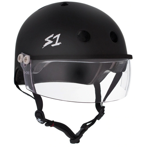 S-One Helmet Lifer Visor (L) Black Matte - AUS/NZ Certified