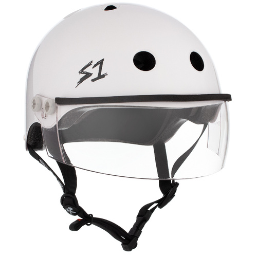S-One Helmet Lifer Visor (L) White Gloss - AUS/NZ Certified