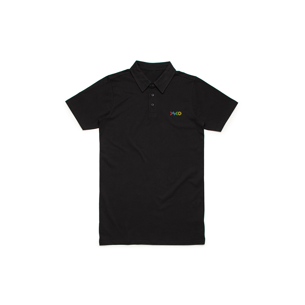 DSCO Polo (M) Stitch Logo Black