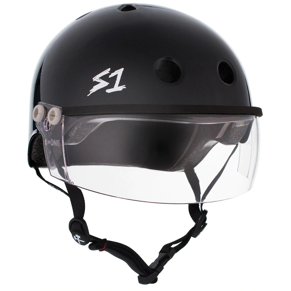 S-One Helmet Lifer Visor (L) Black Gloss