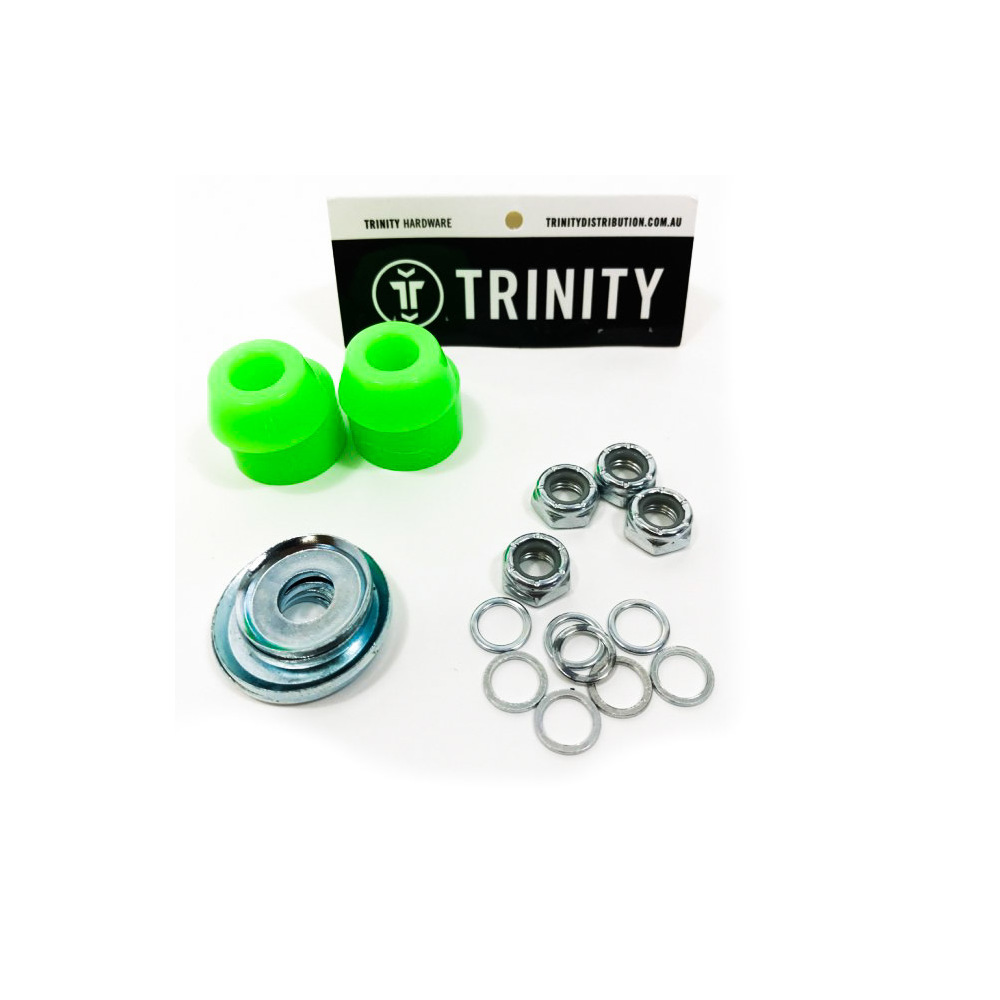 Trinity Truck Repair Kit 100A White Bushings & Washers/Axle Nuts & Washers