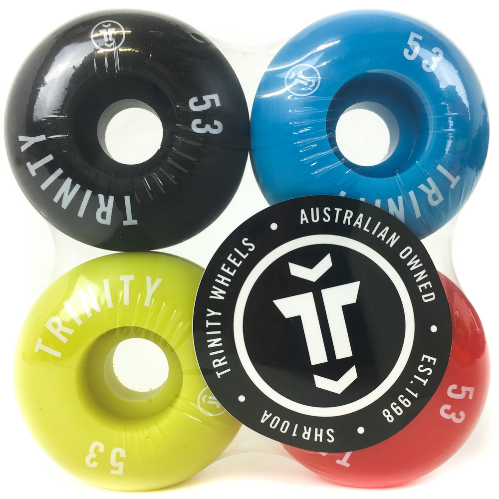 Trinity Wheels 53mm (100a) Multi Colour Pack