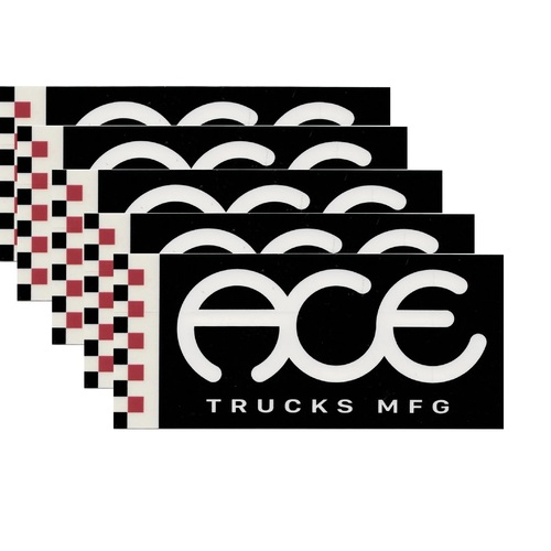"Ace Sticker 5 pack 3"" Boxed Standard Logo"