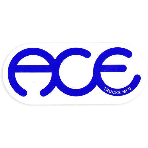 "Ace Sticker 3"" Rings Logo"