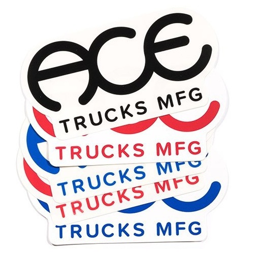 "Ace Sticker 5 pack 3"" Rings Logo"