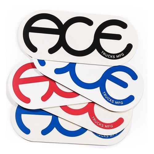"Ace Sticker 5 pack 6"" Rings Logo"
