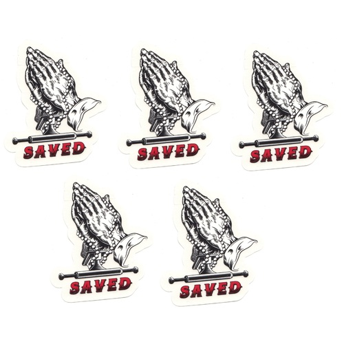 "Ace Sticker 5 pack 3"" Saved Hands"