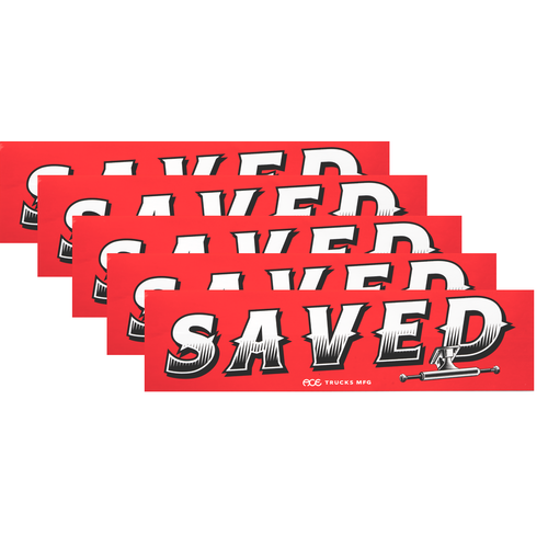 Ace Bumper Sticker 5 Pack Saved Large