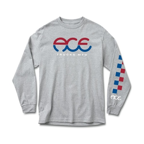 Ace LS Tee (M) Split Heather