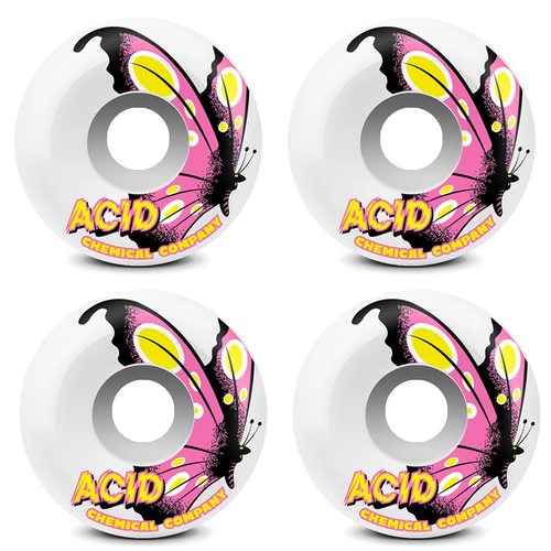 Acid Wheels Type A 52mm (99a) Butterfly White