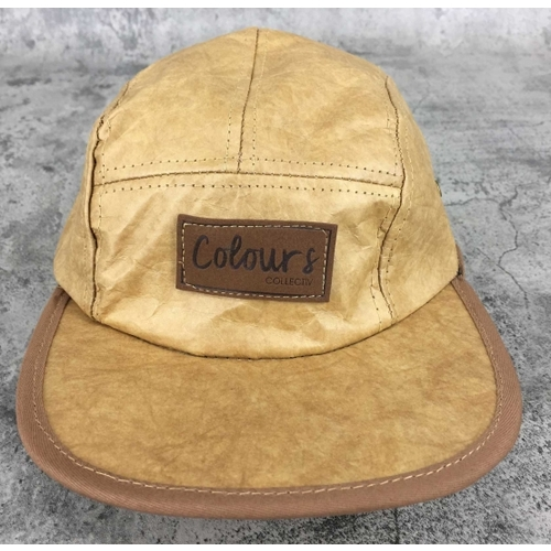 Colours Collective 5 Panel Paper Hat Brown