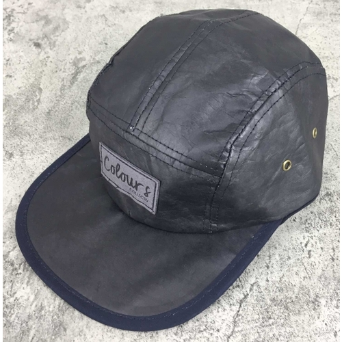 Colours Collective 5 Panel Paper Hat Black