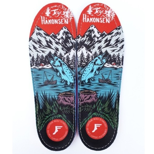 Footprint  Gamechangers Insoles (6/6.5) Terje Haakonsen Salmon