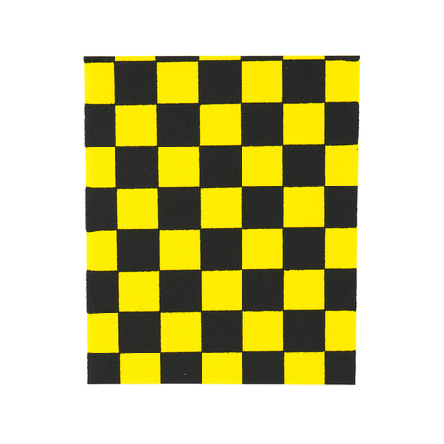 "Fruity Griptape (9""x11"") Black/Yellow 1/3 Sheet"