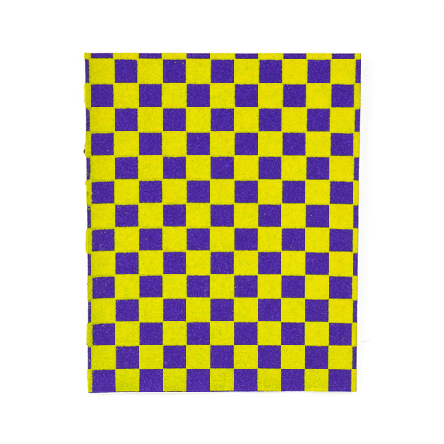 "Fruity Griptape (9""x11"") Purple/Yellow 1/3 Sheet"