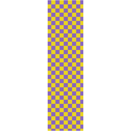 "Fruity Griptape (9""x33"") Purple/Yellow Checkers  Single Sheet"