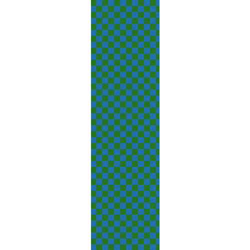 "Fruity Griptape (9""x33"") Green/Blue Checkers  Single Sheet"