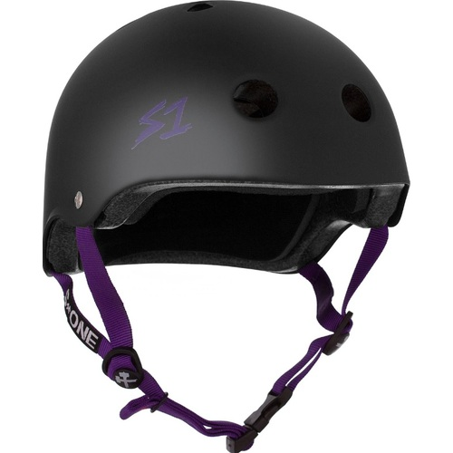 S-One Helmet Lifer (XS) Black Matte/Purple Straps
