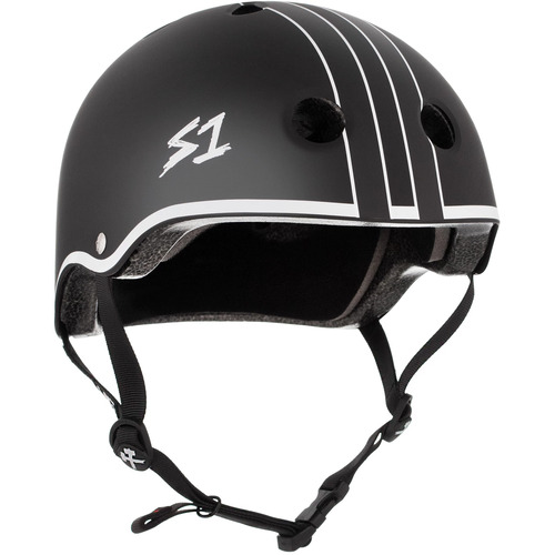 S-One Helmet Lifer (L) Black Matte w/ White Outline Gavo Collab