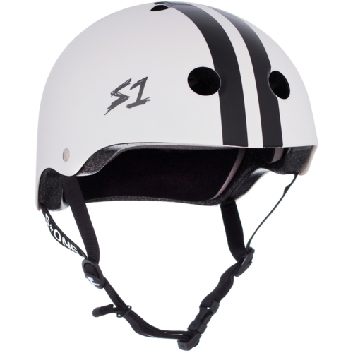 S-One Helmet Lifer (XS) CJ Collins White Gloss/Black Stripes