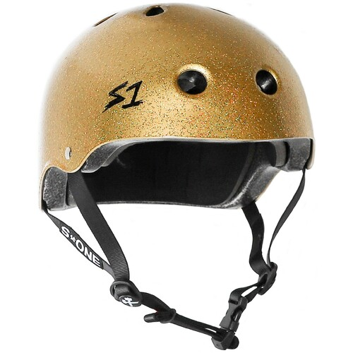 S-One Helmet Lifer (M) Gold Glitter