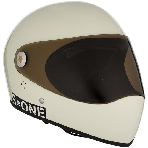 S-One Full Face Helmet Lifer (XL) Moto White Gloss