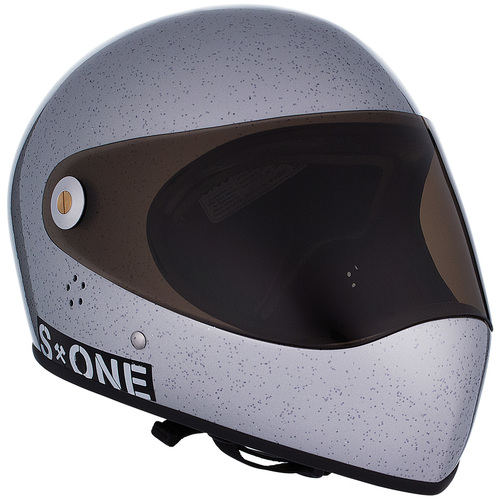 S-One Full Face Helmet Lifer (L) Silver Glitter