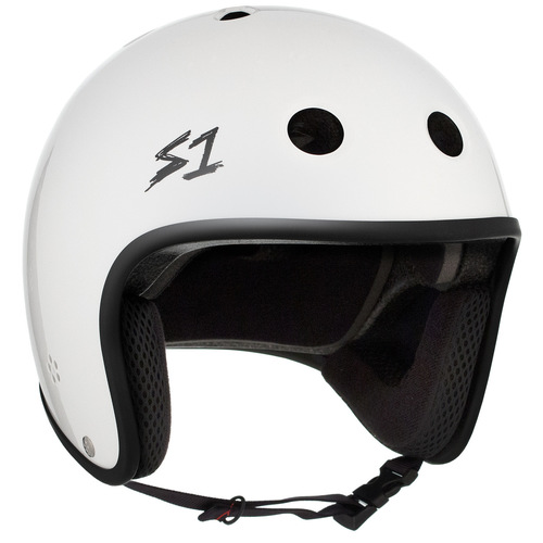 S-One Helmet Retro Lifer (L) White Gloss