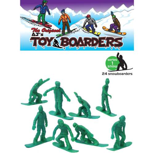 Toyboarders Snow 1 Green 24 pack