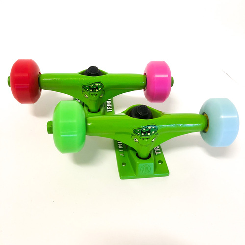 "Trinity Trucks/Wheels/Bearings Combo 5.0"" Monster Green"
