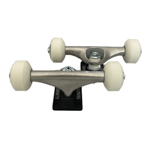 "Trinity Trucks/Wheels/Bearings Combo 5.0"" Raw/Black"