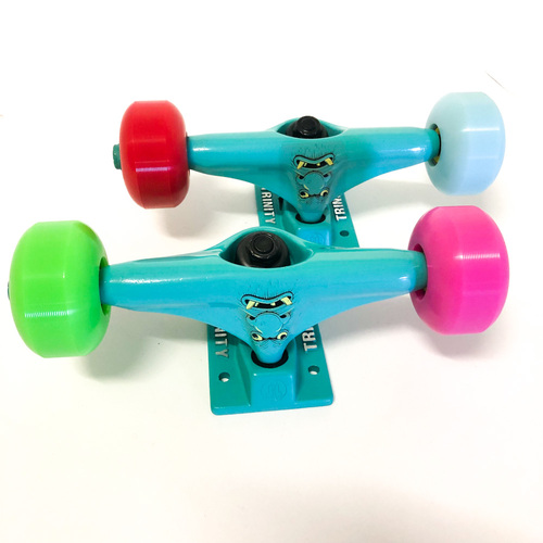 "Trinity Trucks/Wheels/Bearings Combo 5.25"" Monster Blue"