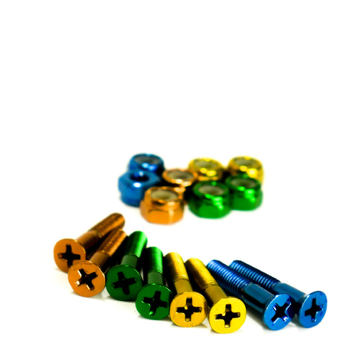 "Trinity Bolts 1"" Multi-Coloured Annodized"