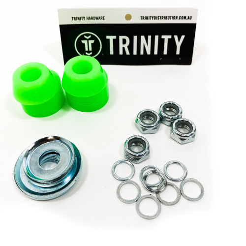Trinity Truck Repair Kit 96A Green Bushings & Washers/Axle Nuts & Washers