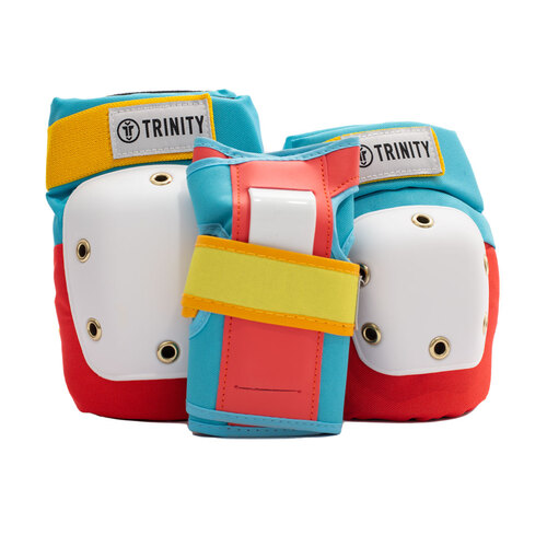 Trinity Pad Pack (M) Retro 2 x Knee Pads/Elbow Pads/Wrist Guards
