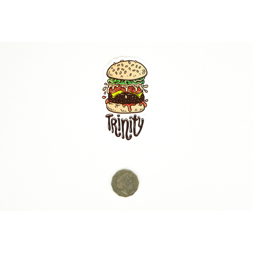 Trinity Cheeseburger Sticker