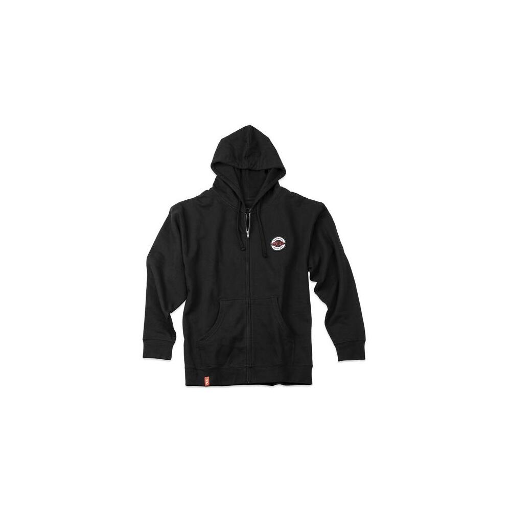 Ace Hoodie (S) Seal Patched Black