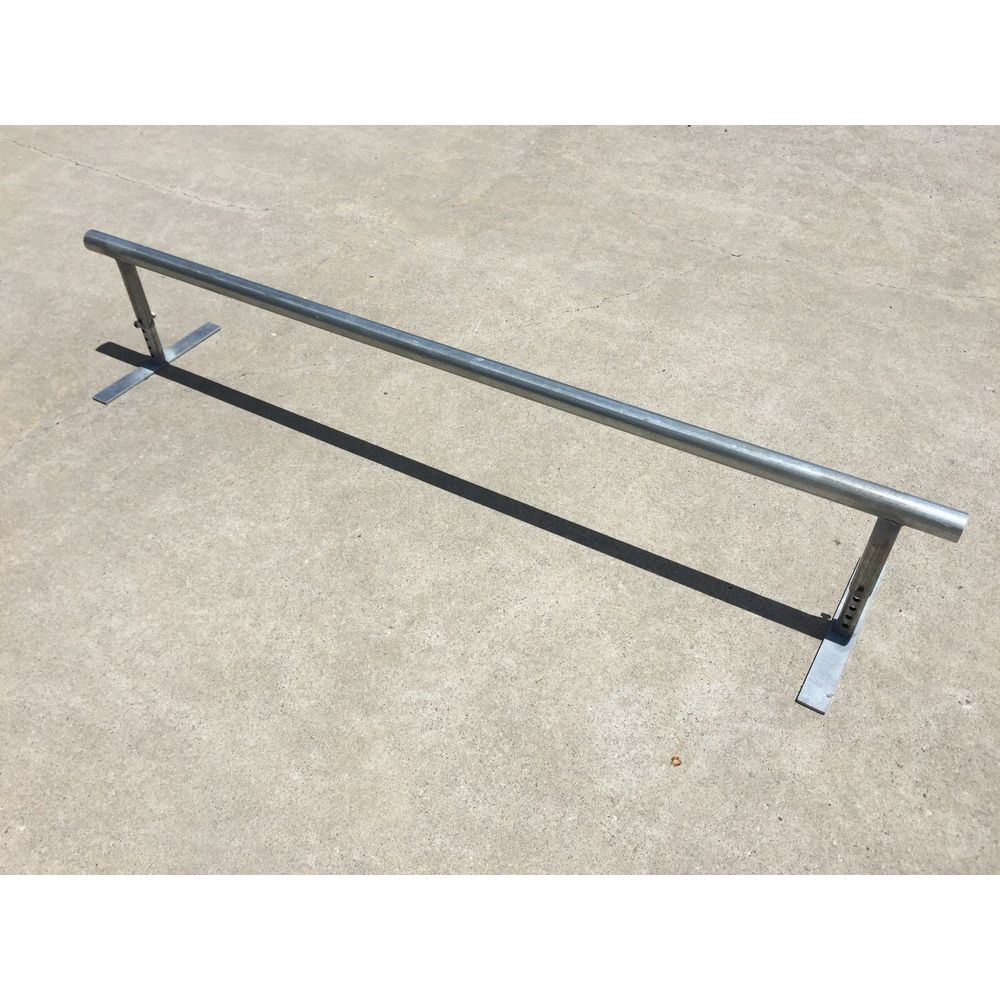 Trinity Flat Bar Round Grind Rail - 2m Long with Adjustable Height