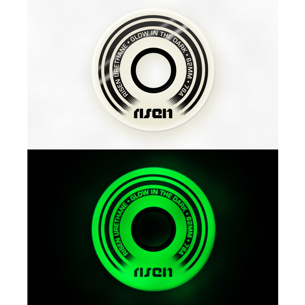 Risen Wheels 62mm (78a) Glow in the Dark